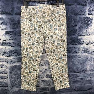 Ann Taylor Loft Modern Crop Floral Jeans